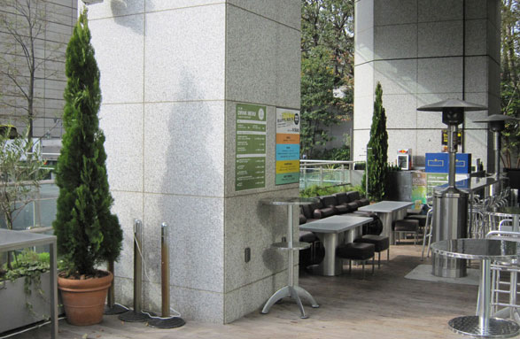 屋外施設オリーブ植栽 グリーンレンタル ラウンドスケープ