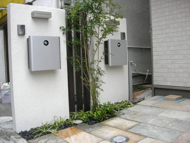 屋外シマトネリコ植栽 グリーンレンタル ラウンドスケープ